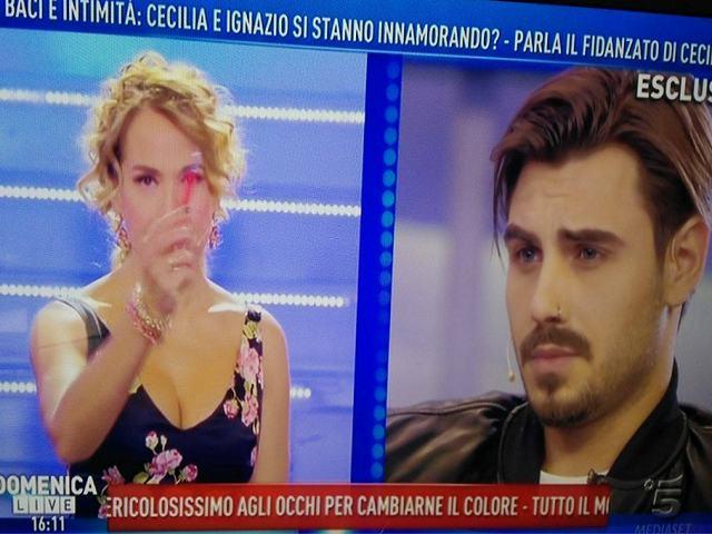 """Francesco Monte sbotta a Domenica Live: """"Moser non è un uomo"""""""