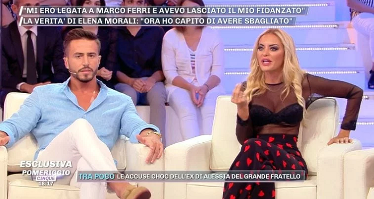 Elena Morali e Marco Ferri litigano a Pomeriggio 5: il motivo