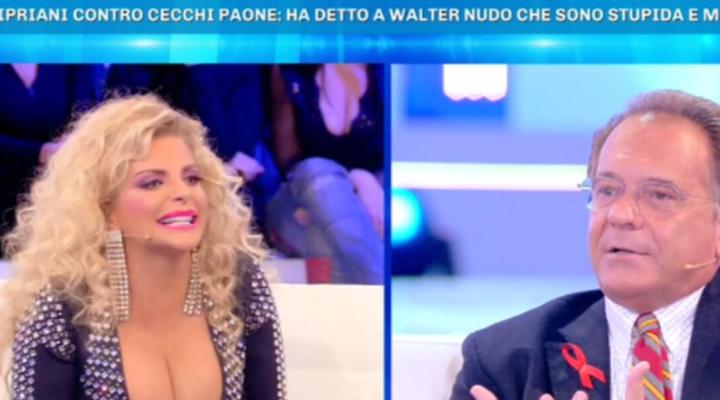 Domenica Live, scoppia la lite tra Francesca Cipriani e Cecchi Paone