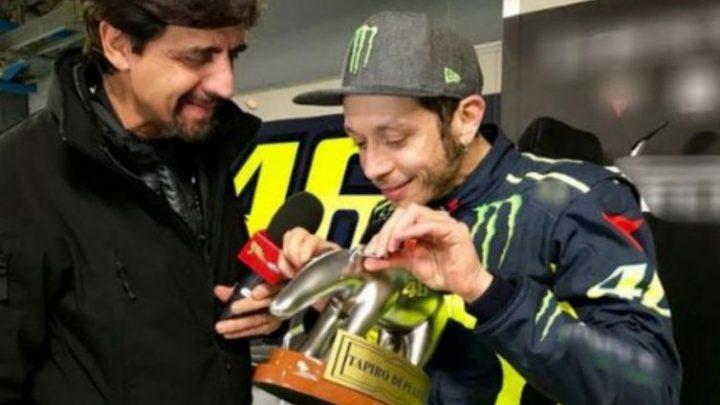 Tapiro d'oro al campione del mondo Valentino Rossi
