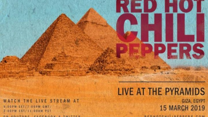 Red Hot Chili Peppers live alle piramidi di Giza: diretta streaming internazionale il 15 marzo