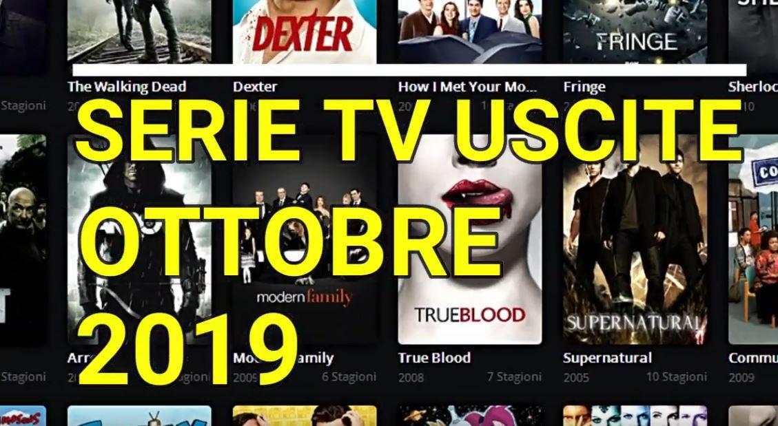 Le principali serie Tv in uscita a Ottobre 2019 – VIDEO