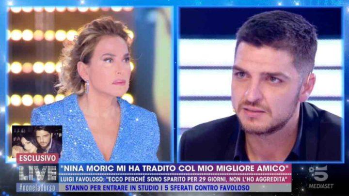 """Luigi Favoloso a Live-Non è la d'Urso: """"Sono sparito perché non volevo essere trovato da Nina"""""""
