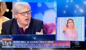 Vittorio Sgarbi allontanato da Mediaset dopo il litigio con