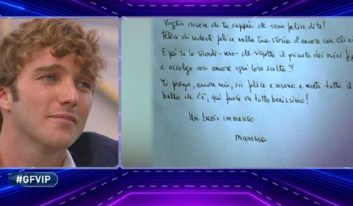 Paolo Ciavarro, lettera madre