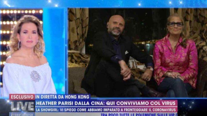 """Live-Non è la d'Urso, Heather Parisi sul Coronavirus: """"A Hong Kong è tutto chiuso ma non c'è allarmismo, siamo tranquilli"""""""