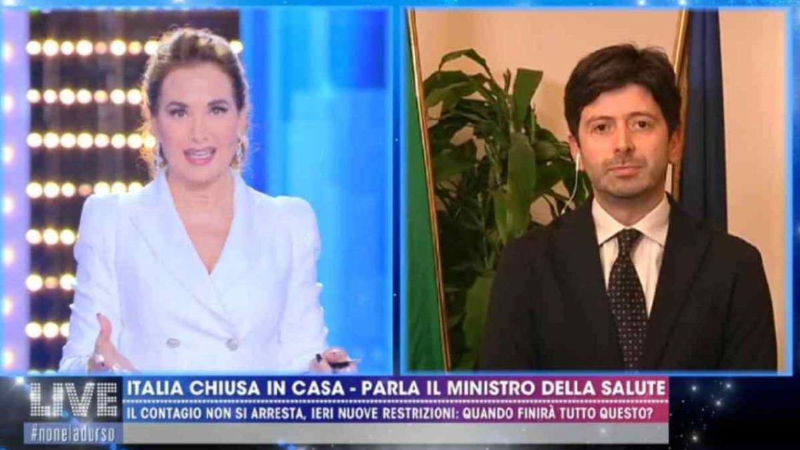 """Coronavirus, Roberto Speranza a Live-Non è la d'Urso:""""I numeri cresceranno nei prossimi giorni"""""""