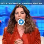 """Alba Parietti interviene a Stasera Italia: """"Faremo fatica a toranre alla normalità"""""""