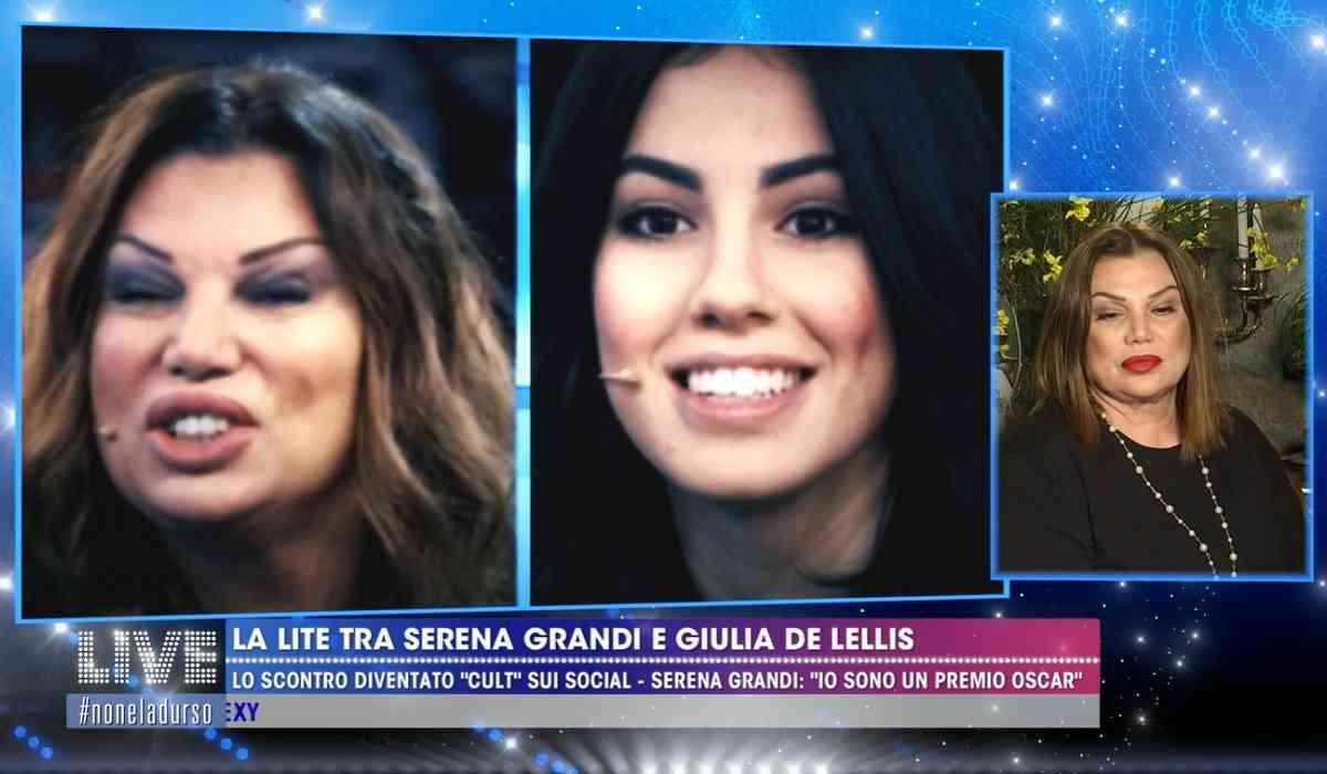 Serena Grandi contro Giulia De Lellis
