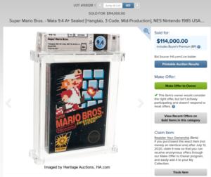 Copia di Super Mario Bros venduta ad un prezzo folle, è reco