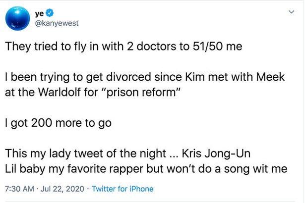 I tweet di Kanye West