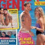 Copertina di Gente con Chanel Totti in copertina in costume: la reazione di papà Francesco Totti e mamma Ilary Blasi