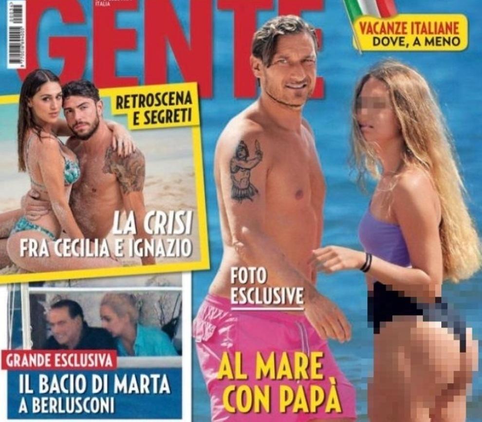 La copertina di Gente con Chanel Totti in copertina