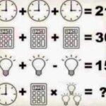 Indovinello degli orologi, calcolatrici e lampadine: qual è la soluzione?