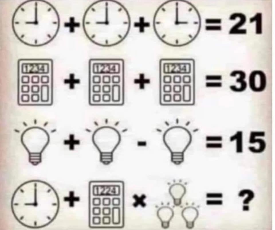 indovinello calcolo