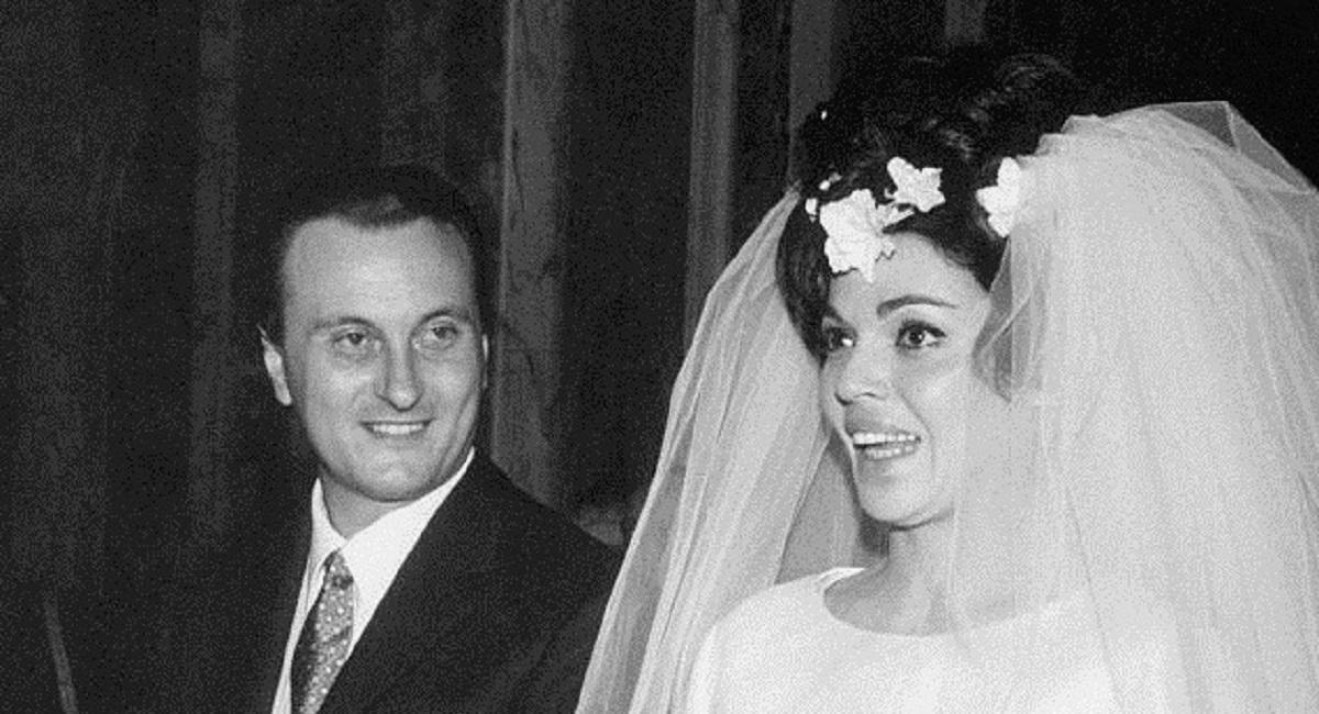 Tata Giacobetti durante il matrimonio