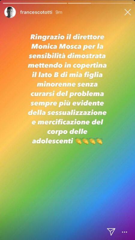 L'intervento di Totti su Instagram