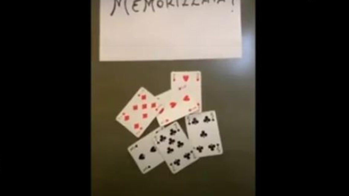 """""""Memorizza una carta"""", il video della carta che scompare è virale: il trucco è semplice"""