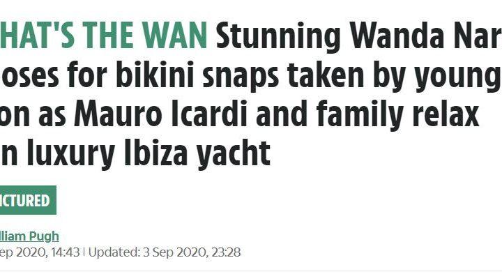 Wanda Nara e le foto sexy in bikini scattate dal figlio: su Twitter si scatena il dibattito