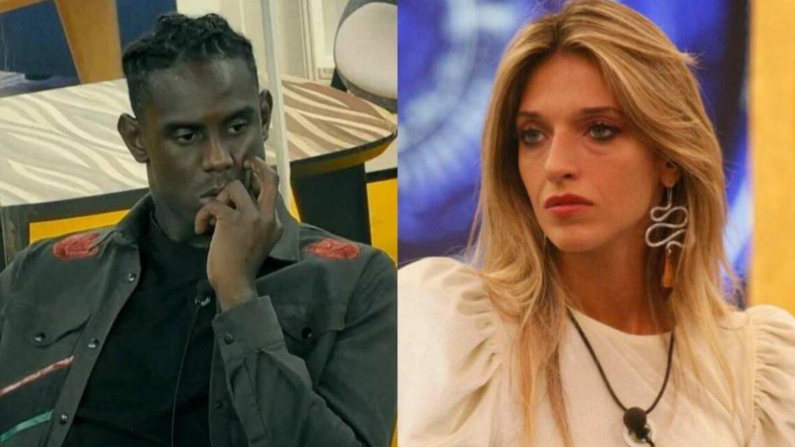 Enock Barwuah e Guenda Gorio, duro scontro al Grande Fratello Vip: il gieffino fa volare il microfono