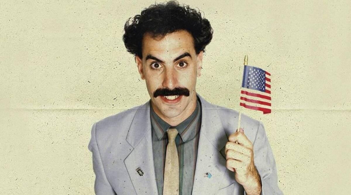 borat con bandiera americana