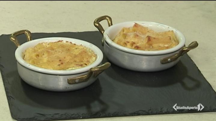 Cotto e Mangiato ricetta 16 novembre 2020: timballo di pasta e cheddar