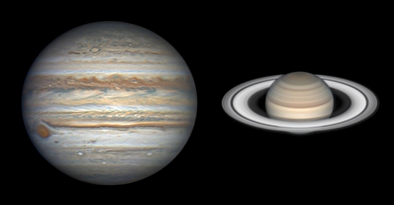 Giove e Saturno oggi