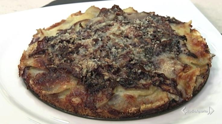 Cotto e Mangiato ricetta 11 gennaio 2021: tortino radicchio e patate