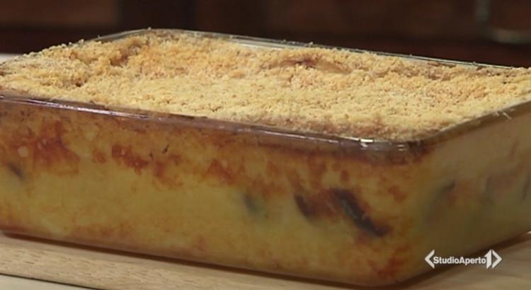 Cotto e Mangiato ricetta 17 febbraio 2021: gateau di porro e funghi