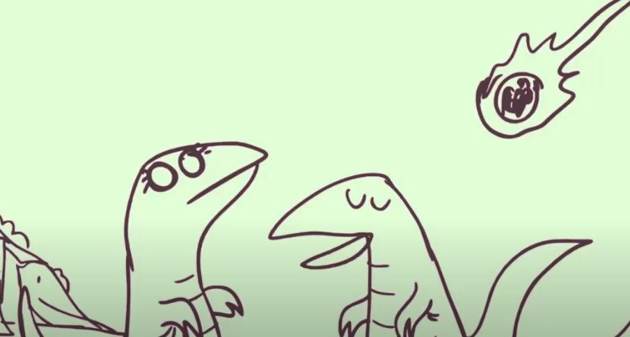 dinosauri meteorite zerocalcare