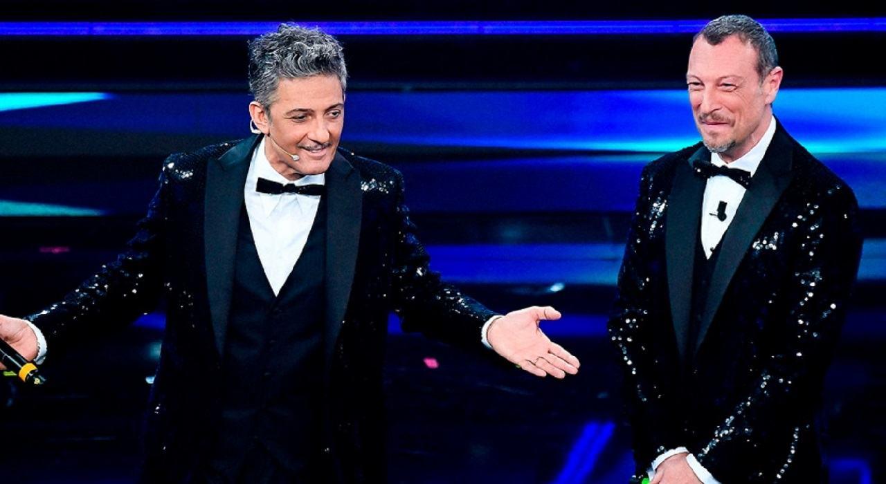 Fiorello e Amadeus Sanremo